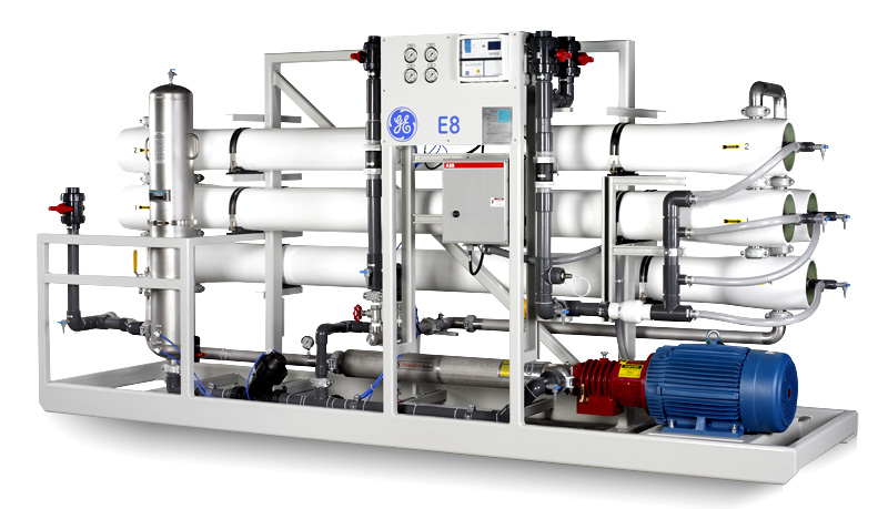 PSP30869-02 Water & Process Technologies, E4H and E8 Series Brackish Water Reverse Osmosis (BWRO) product line of RO pretreatment equipmentE8 50,000 - 700,000 gpd Flow RateDI 3000x5000